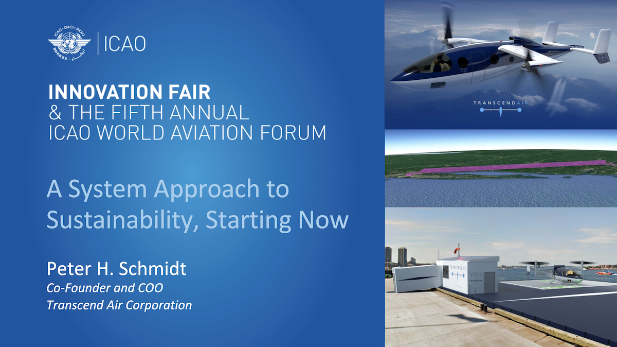 TRANSCEND AIR TO BE FEATURED PANELIST AND EXHIBITOR AT THE ICAO INNOVATION FAIR