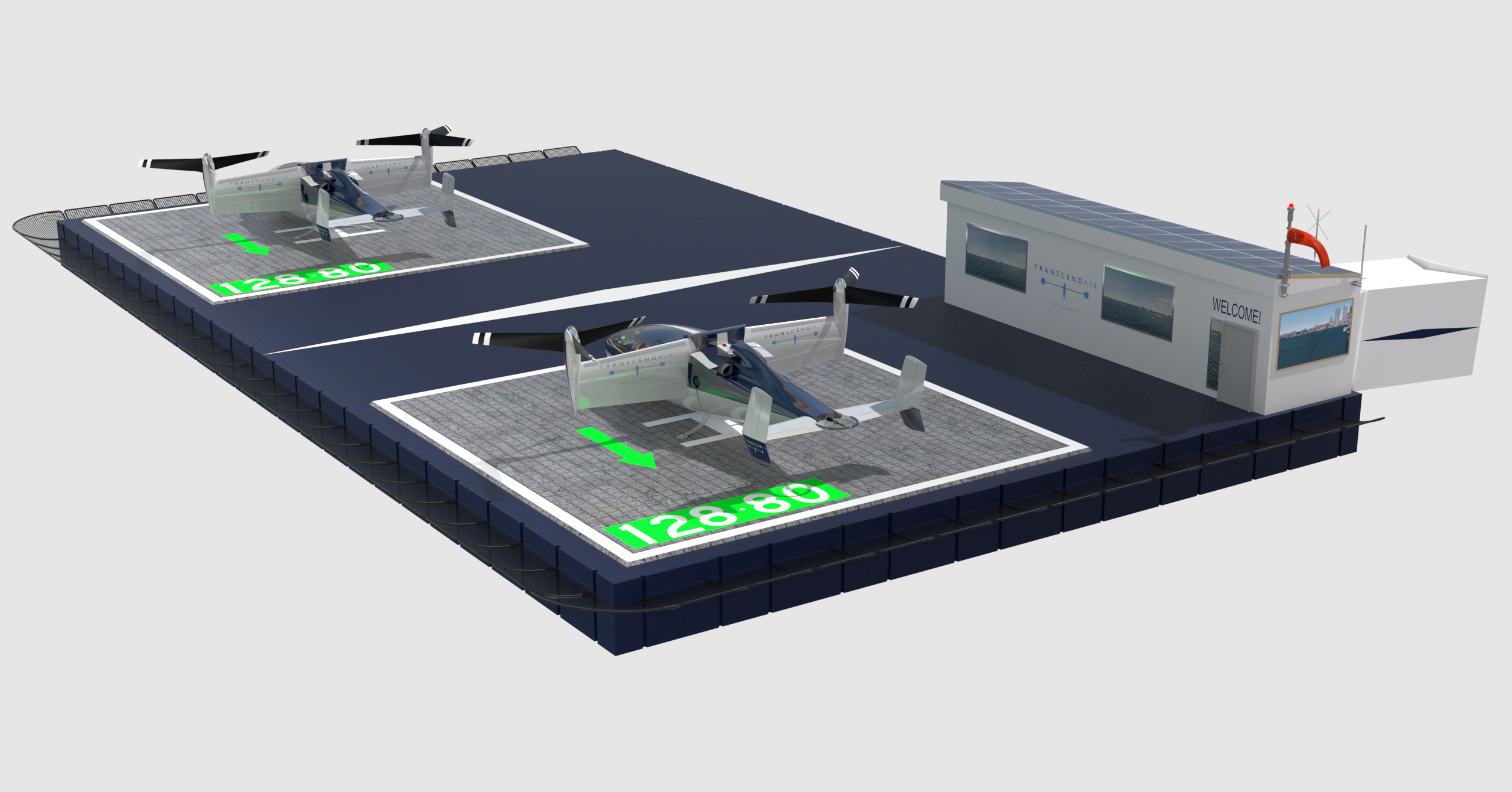 3D view of Transcend vertiport