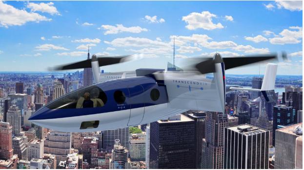 Vy 400 over Midtown Manhattan